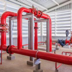 Sistema di pompe antincendio.